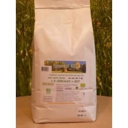 Farine 5 céréales bio en sac de 2kg