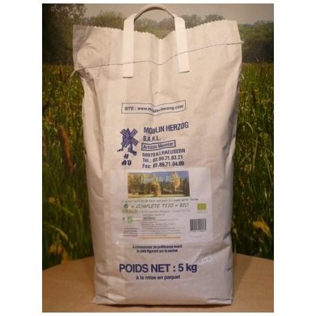 Farine Complète T110 bio en sac de 5kg
