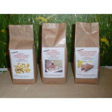 Farine Pain d'épices/Muffins au chocolat/Cookies au chocolat - 500gr chacun