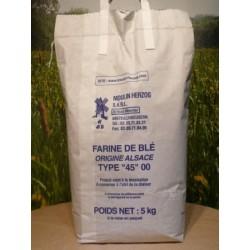 Farine de blé T45 en sac de 5kg