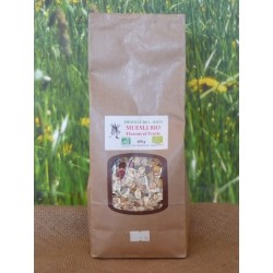 MUESLI Flocons et fruits BIO en 400 g